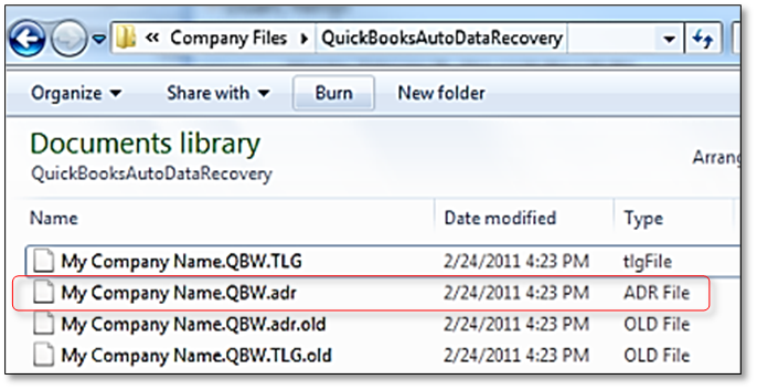 auto data recovery quickbooks desktop