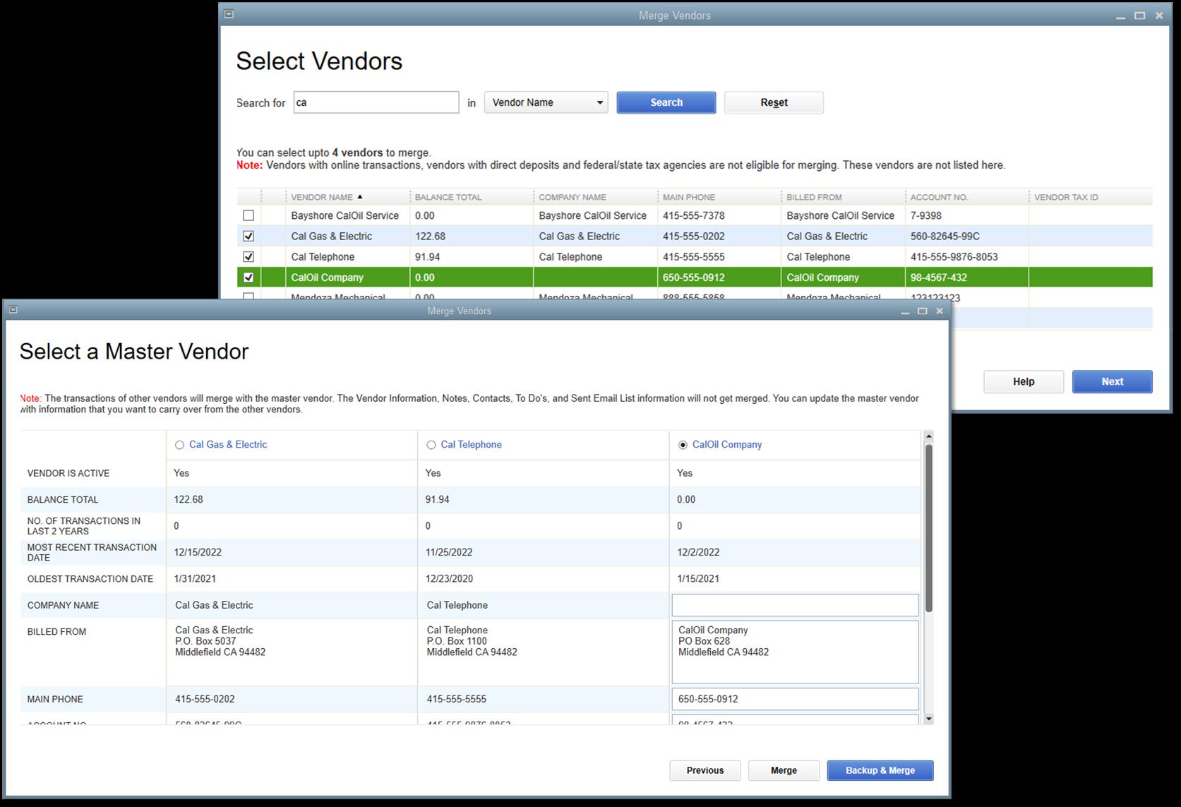 merge vendors in quickbooks