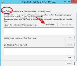 quickbooks database server manager setup