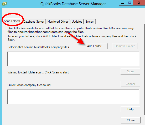 quickbooks database server manager setup