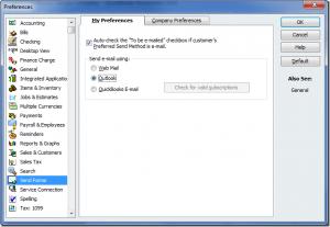quickbooks online email setup