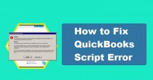 quickbooks script error code 0