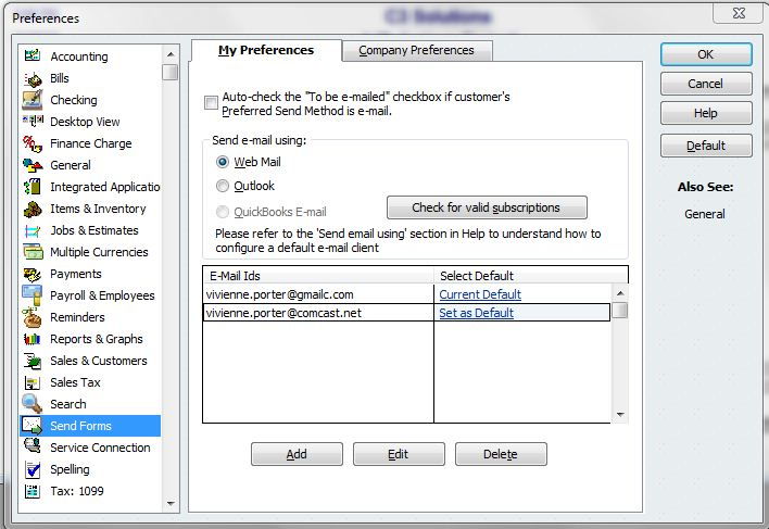 quickbooks yahoo email settings