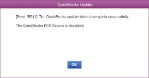 Error code 15241 in Quickbooks