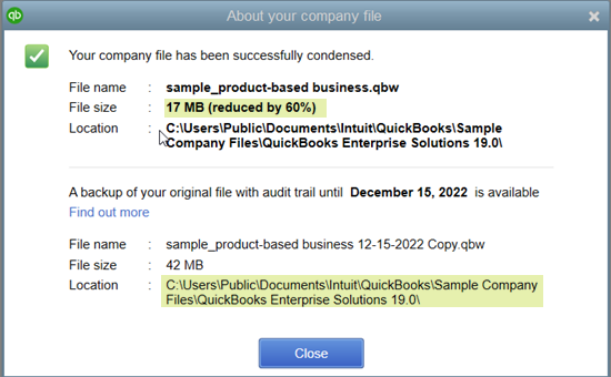 Quickbooks condense data tool