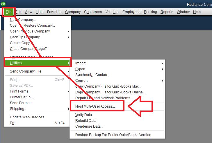 Quickbooks desktop multi user mode not working