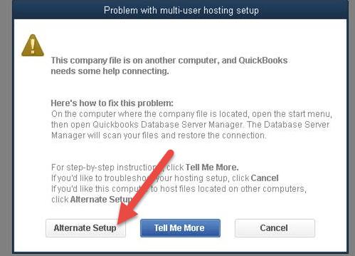 Quickbooks multi-user mode not working