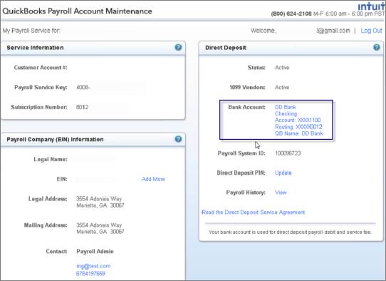 direct deposit in Quickbooks