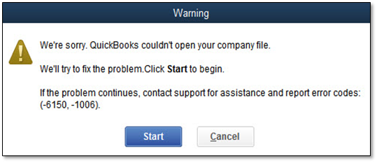 quickbooks error 6150 and 1006
