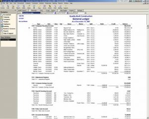 quickbooks general ledger report