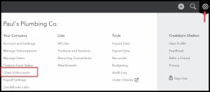 set up chart of accounts in quickbooks desktop