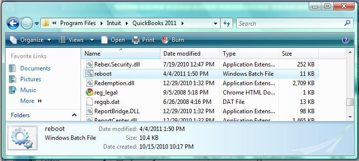 the file exist error in quickbooks desktop