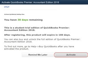 trial version of quickbooks pro 2018