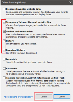 Backup failed error in Intuit data protect