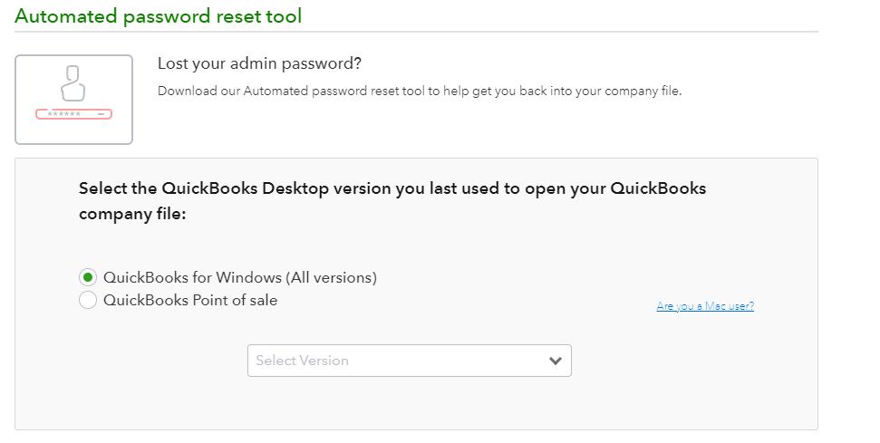 Crack Quickbooks admin password