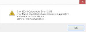 Quickbooks error 15423