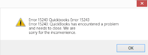 Quickbooks error 15423
