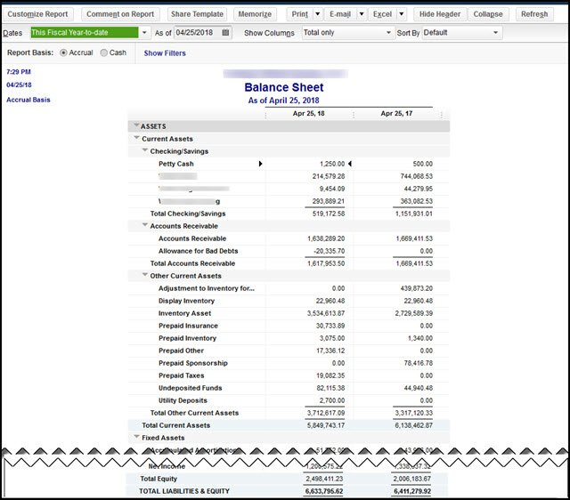 balance sheet out of balance error quickbooks