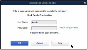 crack Quickbooks desktop admin password