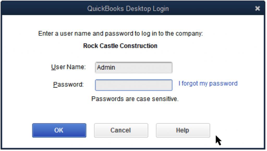 crack Quickbooks desktop admin password