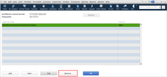 how do i find my quickbooks payroll service key