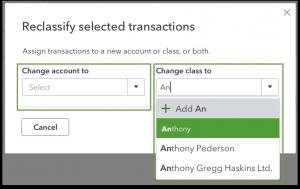 how to reclassify transactions in Quickbooks desktop