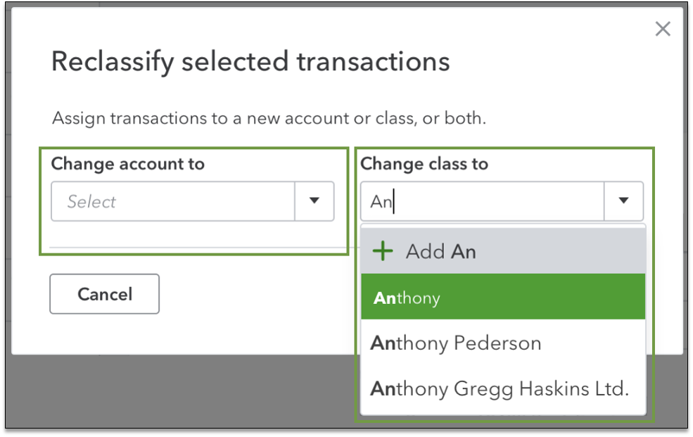how to reclassify transactions in Quickbooks desktop
