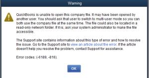 unable to open file in quickbooks desktop